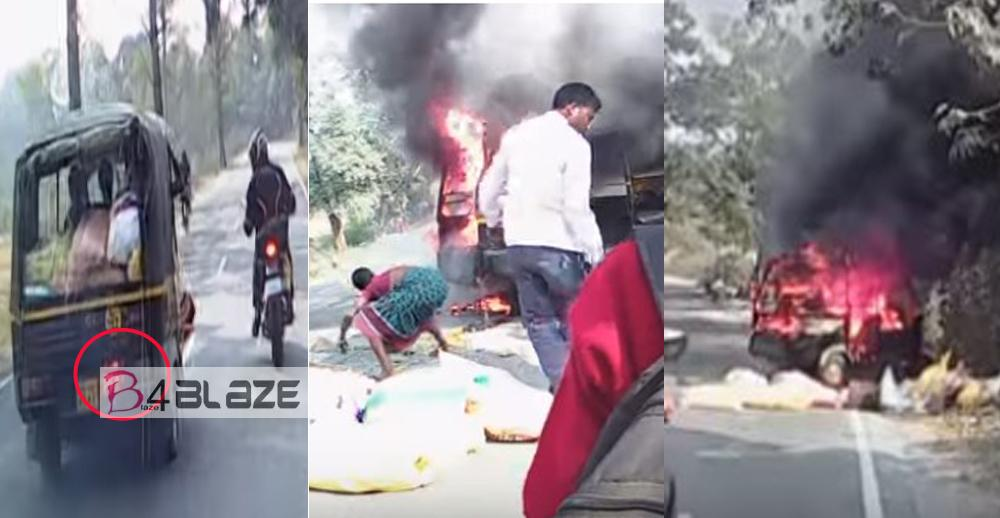bike riders save the peoples from fire