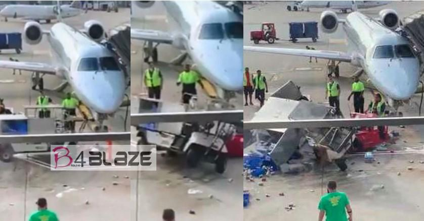 Vehicle lost control at Airport