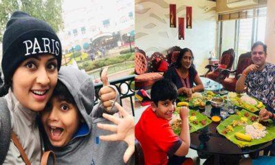 Navya Nair and Santhosh Menon celebrate their son's birthday
