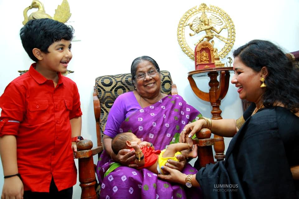 naming cermony of ambili dev's child