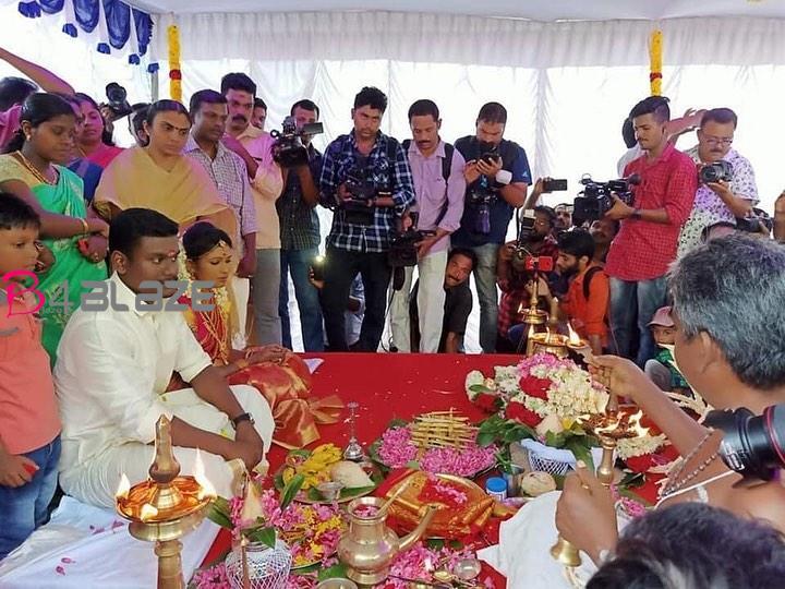 anju sharath wedding images