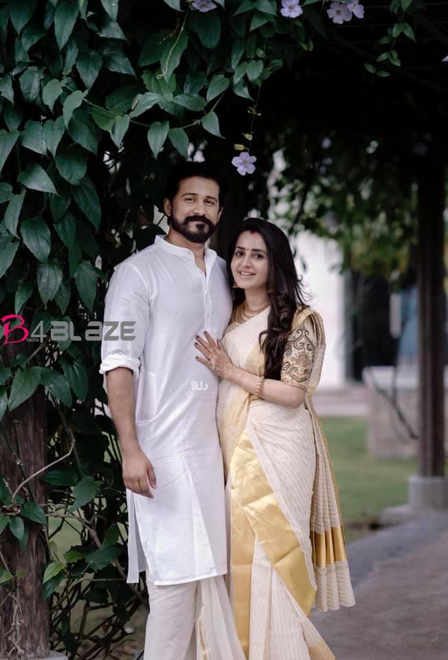 bhama with husband