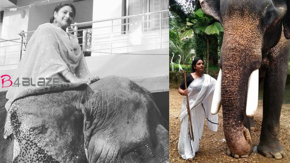 praveena with elephant