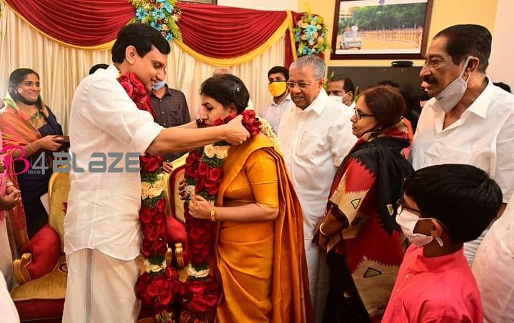 pinarayi daughter veena vijayan marriege photos
