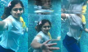 Noorin Shereef Swimming Pool Video