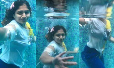 Noorin Shereef Swimming Pool Video