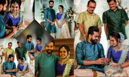 Mridula Vijayan Engagement Photos