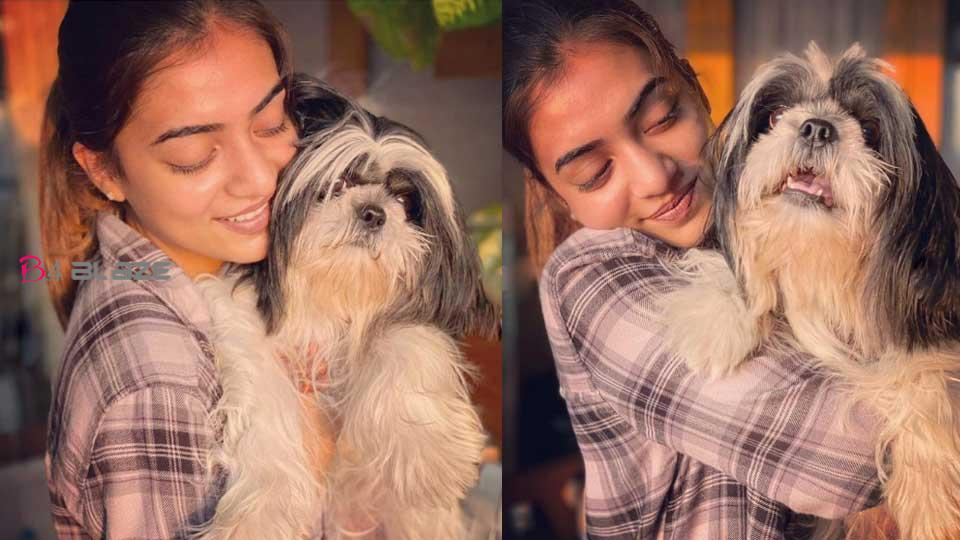Nazriya photo with pet